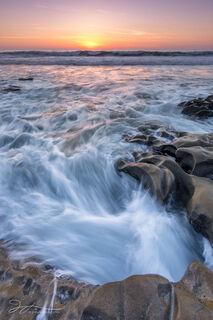 La Jolla, California, sunset, waves, beach, coast, landscape