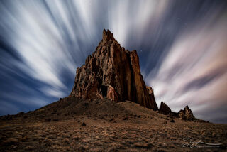 New Mexico, Shiprock, astrophotography, fine art landscape photography, landscape photography, long exposure, night photography
