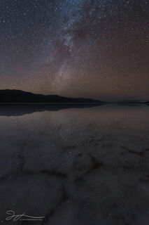 Badwater Basin, Death Valley National Park, astrophotography, California, milky way,  stars, water reflection, night sky, flooded, winter, night photography