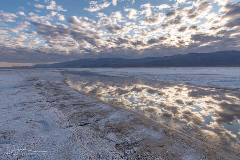 Death Valley National Park, Mojave Desert, abstract photography, California, landscape, salt springs, water, cloud, reflections, playa