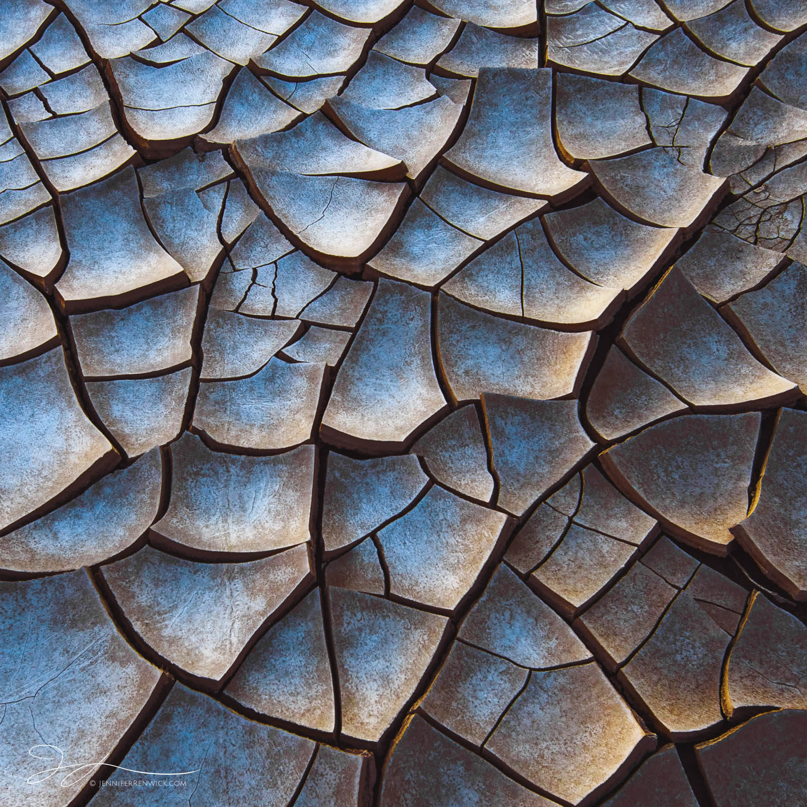 Death Valley National Park, Mojave Desert, abstract photography, California, patterns, desert, mud, textures, playa, mud cracks, blue hour, photo