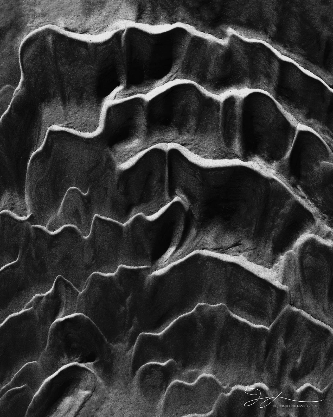 "Desert sand ripples resemble corrugated cardboard.  This image is part of my ""Desert Textures"" photo project. You see the full..."