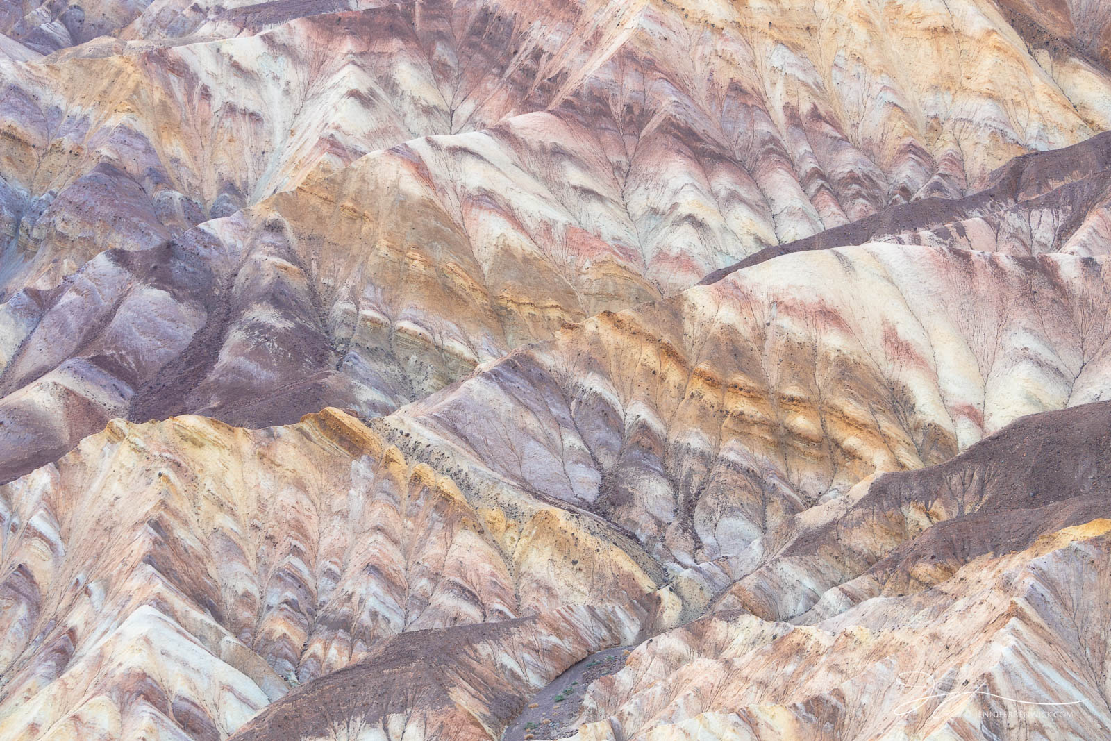 Death Valley National Park, Mojave Desert, Zabriskie Point, California, layers, badlands, landscape, ridges, patterns, texture, abstract photography, photo
