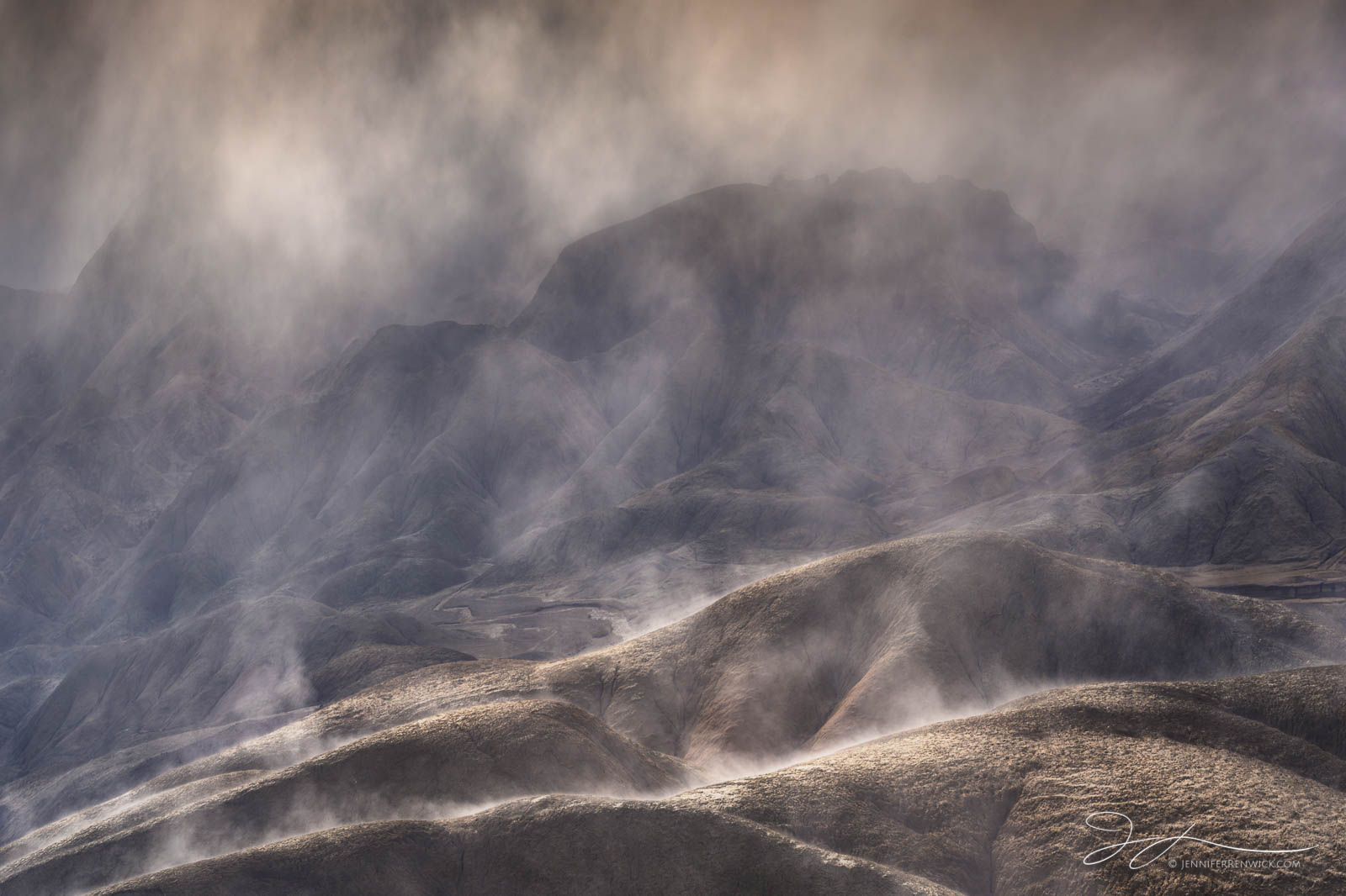 Steam rises off the badlands as the sun breaks through the clouds. The previous night, it had rained, and in the morning I was...